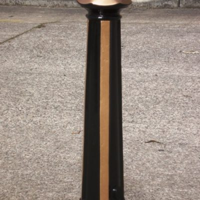 Neston black and gold polymer bollard