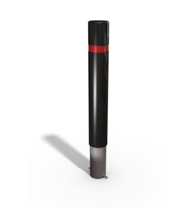 3d drawing of a polymer bollard with a root fixing option
