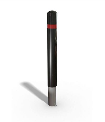 black polymer bollard 3D drawing on a white background