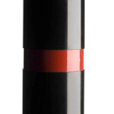 red reflective banded polymer bollard
