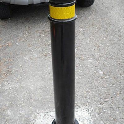 manchester bendy polymer bollard installed