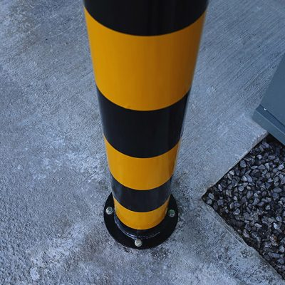 mild steel bollard with baseplate