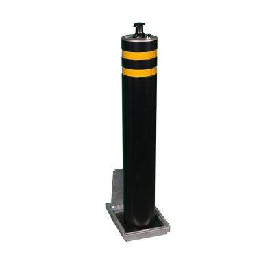 mild steel powder coated black telescopic bollard