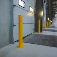 A6-Logistics-Versa-Street-Furniture-Casestudy-Mild-Steel-Bollard-Post-Service-Yellow-High-Visibility-4