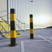 A6-Logistics-Versa-Street-Furniture-Casestudy-Mild-Steel-Bollard-Post-Service-Yellow-Yard-Lorry-1