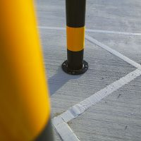A6-Logistics-Versa-Street-Furniture-Casestudy-Mild-Steel-Bollard-Post-Service-Yellow-Yard-Lorry-2