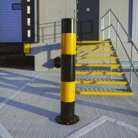 A6-Logistics-Versa-Street-Furniture-Casestudy-Mild-Steel-Bollard-Post-Service-Yellow-Yard-Lorry-3
