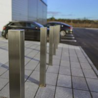 A6-Logistics-Versa-Street-Furniture-Casestudy-Stainless-Steel-Square-Bollard-Building-Entrance-1