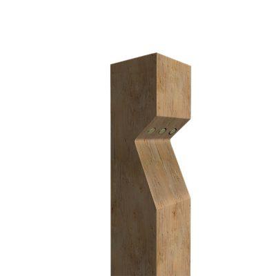 3d render of a timber illuminated bollard