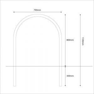 Harrogate cycle stand diagram