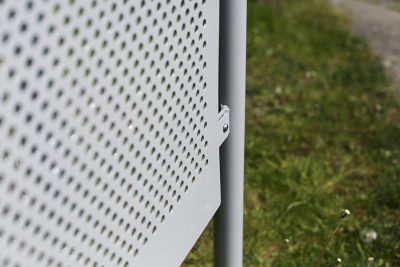 perforated steel polyester powder coated