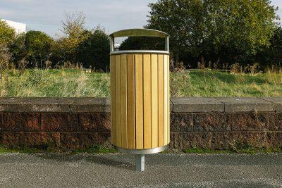 outdoor street furniture litter bin