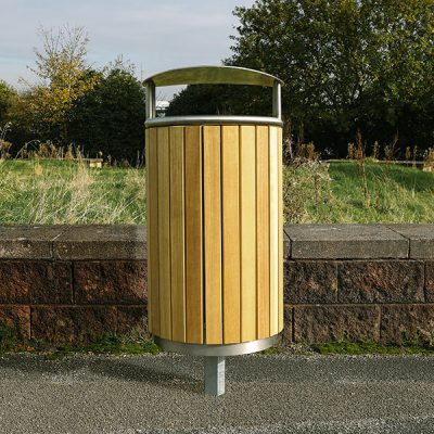 outdoor street furniture litter bin