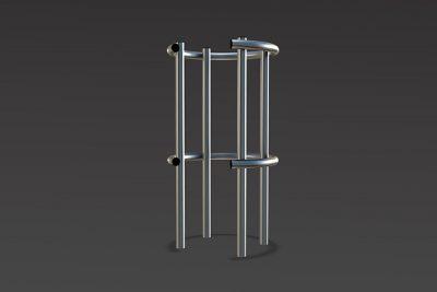 steel framed column protector for car parks
