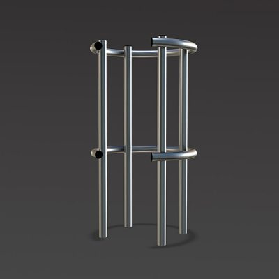 steel framed column protector for car parks