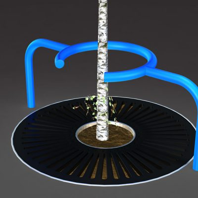 3d visualisation of a tree protector